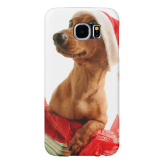Capa Para Samsung Galaxy S6 O papai noel do Dachshund - cão do papai noel -