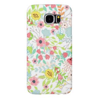 Capa Para Samsung Galaxy S6 O primavera bonito floresce o teste padrão floral