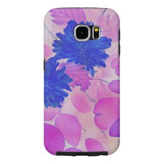 Capa Para Samsung Galaxy S6 O rosa da galáxia S6 deixa a flores do azul o caso