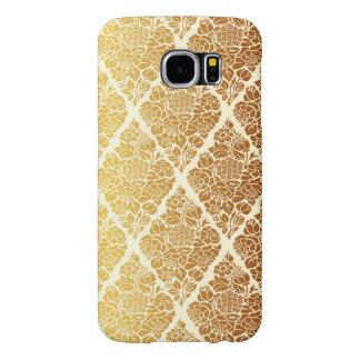 Capa Para Samsung Galaxy S6 O vintage, ouro, damasco, floral, teste padrão,