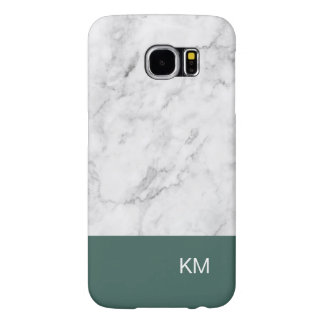 Capa Para Samsung Galaxy S6 Olhar da pedra do mármore do monograma dos homens