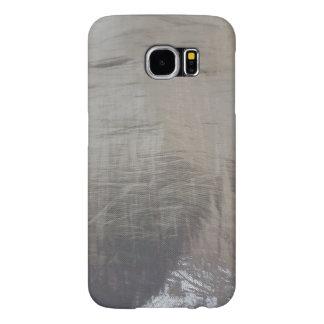 Capa Para Samsung Galaxy S6 Olhar malogrado do tecido das cinzas de prata