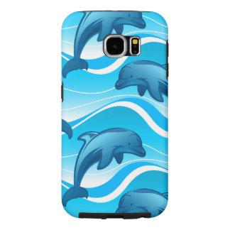 Capa Para Samsung Galaxy S6 Ondas de salto do golfinho