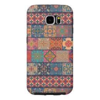 Capa Para Samsung Galaxy S6 Ornamento de talavera do mosaico do vintage