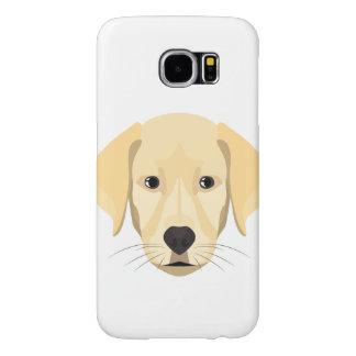 Capa Para Samsung Galaxy S6 Ouro Retriver do filhote de cachorro da ilustração
