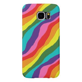 Capa Para Samsung Galaxy S6 Padrões do arco-íris