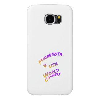 Capa Para Samsung Galaxy S6 País do mundo de Minnesota EUA, arte colorida do