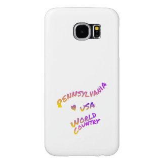 Capa Para Samsung Galaxy S6 País do mundo de Pensilvânia, arte colorida do