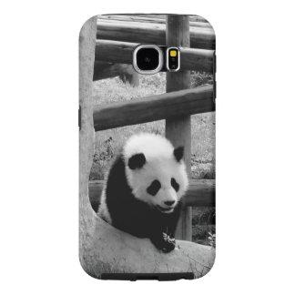 Capa Para Samsung Galaxy S6 Panda - fotografia preto e branco