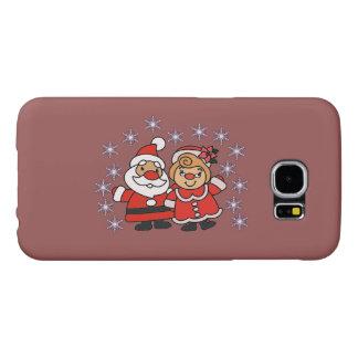 Capa Para Samsung Galaxy S6 Papai noel e Sra. Claus