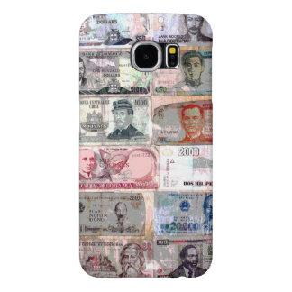 Capa Para Samsung Galaxy S6 Papel moeda do mundo