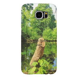 Capa Para Samsung Galaxy S6 Parque do lago photography da natureza do tronco