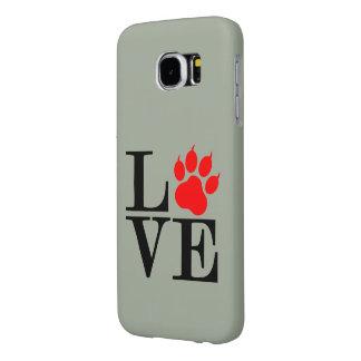 Capa Para Samsung Galaxy S6 Pata do amante do animal de estimação