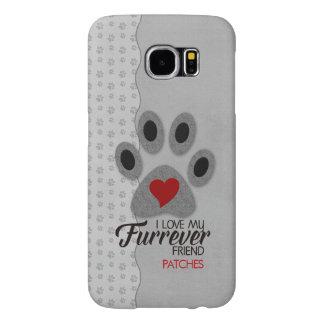 Capa Para Samsung Galaxy S6 Pata vermelha do gato do coração com tema do