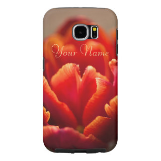 Capa Para Samsung Galaxy S6 Pétalas vermelhas bonito da tulipa. Adicione seu