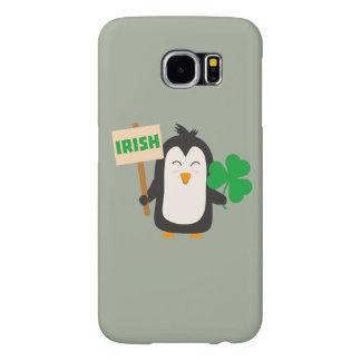 Capa Para Samsung Galaxy S6 Pinguim irlandês com trevo Zjib4