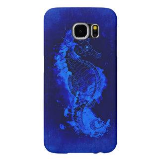 Capa Para Samsung Galaxy S6 Pintura azul do cavalo marinho