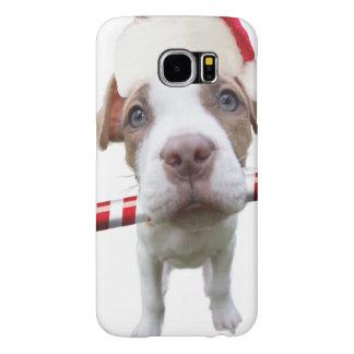 Capa Para Samsung Galaxy S6 Pitbull do Natal - pitbull do papai noel - cão de