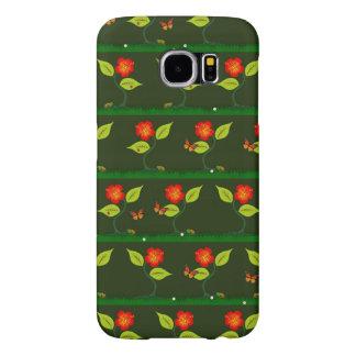Capa Para Samsung Galaxy S6 Plantas e flores
