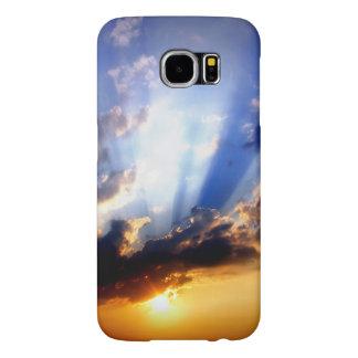 Capa Para Samsung Galaxy S6 Por do sol com nuvens, céu bonito