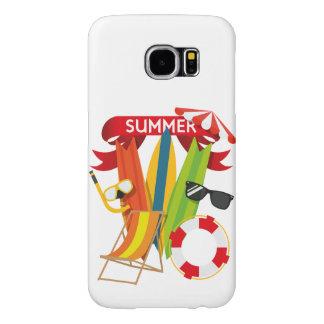 Capa Para Samsung Galaxy S6 Praia Watersports do verão