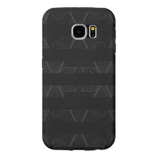 Capa Para Samsung Galaxy S6 Preto Embellished Argyle listrado