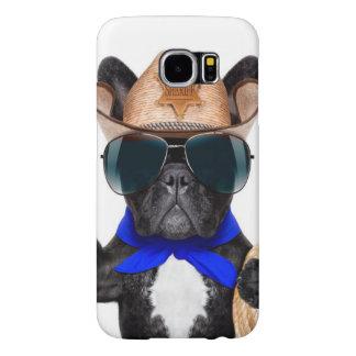 Capa Para Samsung Galaxy S6 pug do vaqueiro - vaqueiro do cão