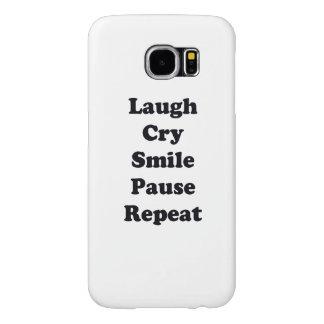 Capa Para Samsung Galaxy S6 Repetição do riso