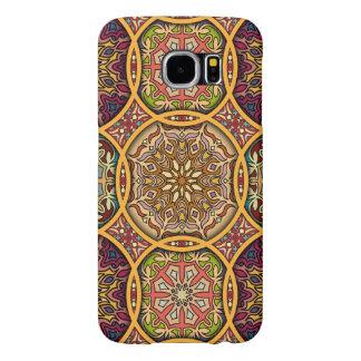 Capa Para Samsung Galaxy S6 Retalhos do vintage com elementos florais da
