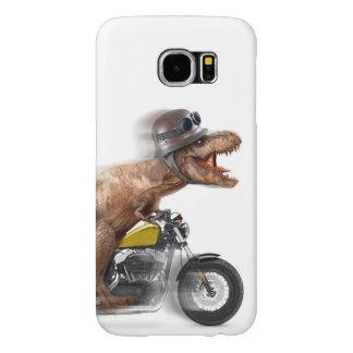 Capa Para Samsung Galaxy S6 Rex dos motocicleta-tiranossauros-t do rex de T -
