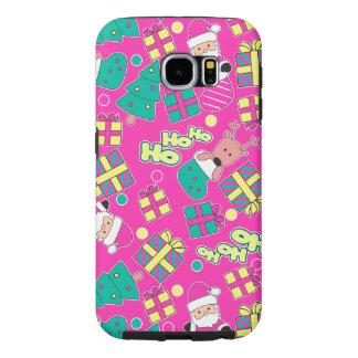 Capa Para Samsung Galaxy S6 Rosa - Ho Ho papai noel