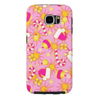 Capa Para Samsung Galaxy S6 Rosa - o boné do papai noel