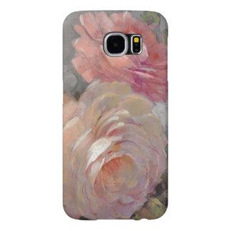 Capa Para Samsung Galaxy S6 Rosas com cinzas
