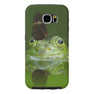 Capa Para Samsung Galaxy S6 Sapo verde e borboleta