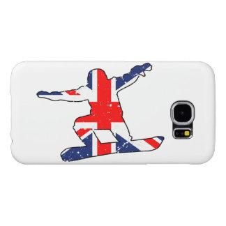 Capa Para Samsung Galaxy S6 SNOWBOARDER de Union Jack (preto)