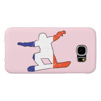 Capa Para Samsung Galaxy S6 SNOWBOARDER Tricolor francês (preto)