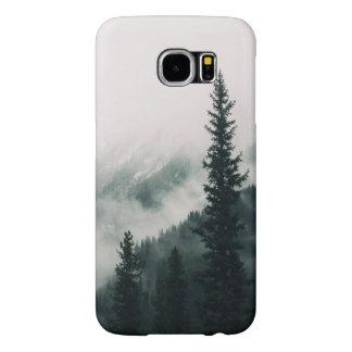 Capa Para Samsung Galaxy S6 Sobre as montanhas e a calha as madeiras