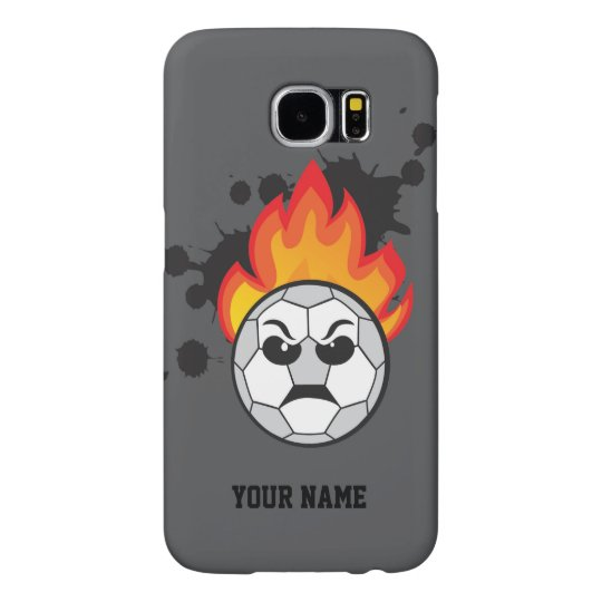 Capa Para Samsung Galaxy S6 Soccer ball on fire