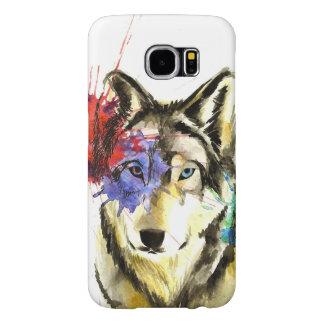 Capa Para Samsung Galaxy S6 Splatter do lobo