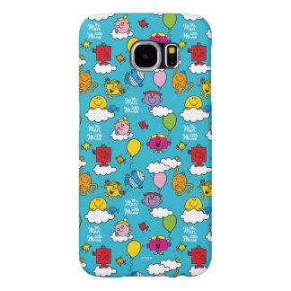 Capa Para Samsung Galaxy S6 Sr. Homem & pássaros & balões pequenos da