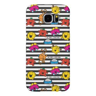 Capa Para Samsung Galaxy S6 Sr. Homem & teste padrão pequeno das listras da