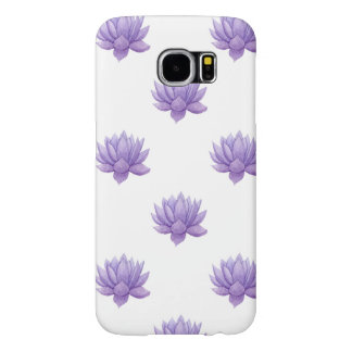 Capa Para Samsung Galaxy S6 Succulent roxo da aguarela