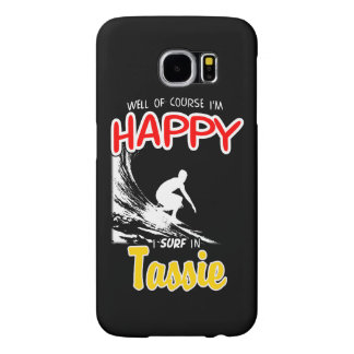 Capa Para Samsung Galaxy S6 Surfista feliz TASSIE (branco)