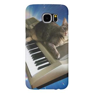 Capa Para Samsung Galaxy S6 teclado do gato