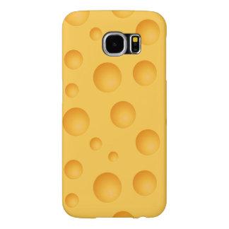Capa Para Samsung Galaxy S6 Teste padrão amarelo do queijo