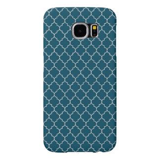Capa Para Samsung Galaxy S6 Teste padrão azul elegante de Marrocos
