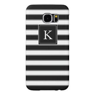 Capa Para Samsung Galaxy S6 Teste padrão clássico das listras do monograma