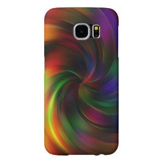 Capa Para Samsung Galaxy S6 Teste padrão colorido bonito do redemoinho