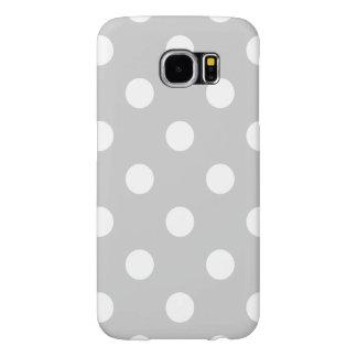 Capa Para Samsung Galaxy S6 Teste padrão de bolinhas cinzento