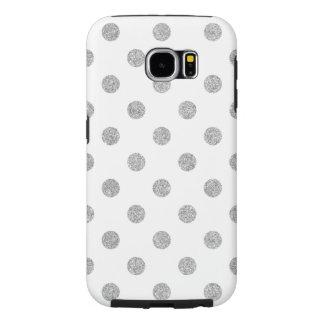 Capa Para Samsung Galaxy S6 Teste padrão de bolinhas de prata elegante do